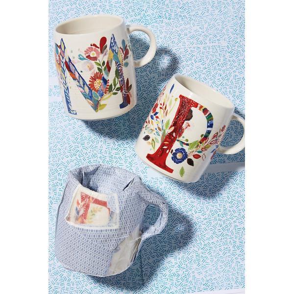 ANTHROPOLOGIE アンソロポロジー イニシャルマグ マグカップ Petal Palette Monogram Mug|kyouto-bluelapin|03