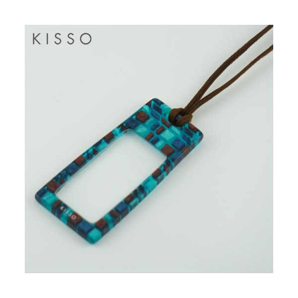KISSO キッソオ ルーペ LS2-CK3 エメラルドグリーン メガネ素材のペンダントルーペ 鯖江