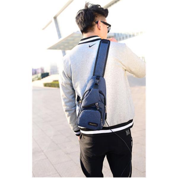 ボディバッグ メンズ レディース ワンショルダー おしゃれ カバン かばん 鞄 軽量 斜めがけ USB充電ポート 帆布バッグ アウトドア 男女兼用 バッグ