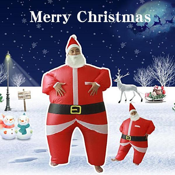 サンタクロース 膨らむ コスチューム 大人 着ぐるみ おもしろ 衣装 ハロウィン ジョーク イベント パーティー仮装文化祭コスプレ|kyouwaya