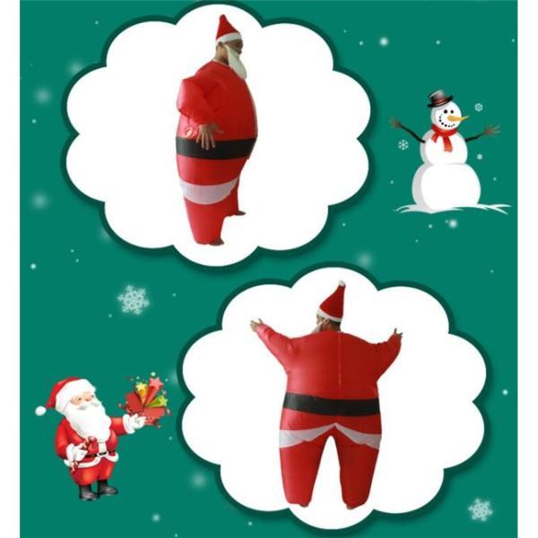 サンタクロース 膨らむ コスチューム 大人 着ぐるみ おもしろ 衣装 ハロウィン ジョーク イベント パーティー仮装文化祭コスプレ|kyouwaya|04