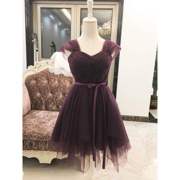 ウェディングドレス パーティードレス 二次会 お呼ばれ リボン ミニ 花嫁 半袖 ショートドレス 膝丈 大きいサイズ ふんわり 結婚式 披露宴 ワンピース|kyouwaya|18