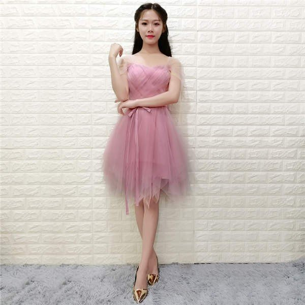 ウェディングドレス パーティードレス 二次会 お呼ばれ リボン ミニ 花嫁 半袖 ショートドレス 膝丈 大きいサイズ ふんわり 結婚式 披露宴 ワンピース|kyouwaya|19