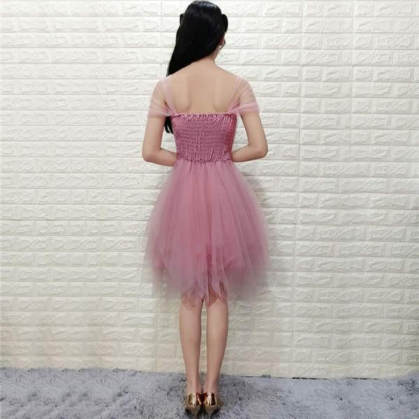 ウェディングドレス パーティードレス 二次会 お呼ばれ リボン ミニ 花嫁 半袖 ショートドレス 膝丈 大きいサイズ ふんわり 結婚式 披露宴 ワンピース|kyouwaya|20