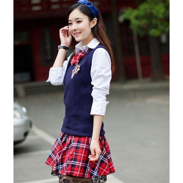 7857ddd2a2bcd ...  協和屋 女子高生 制服 リボンタイ コスプレ セーラー服 卒業式 スーツ コスチューム 入学式 ...