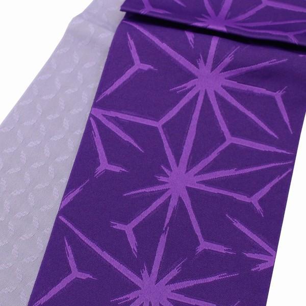 浴衣帯 半巾帯 リバーシブル 半幅帯 ゆかたおび 小袋  麻の葉柄 241|kyouya|02