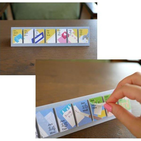 めくって貼れる!卓上型の日めくり付せんカレンダー2019 himekuriヒメクリ Page-a-day calendar (stationary)|kyouzai-j|02