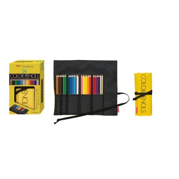 トンボ鉛筆 布製ロールケース入色鉛筆24色NQ CR-NQ24C