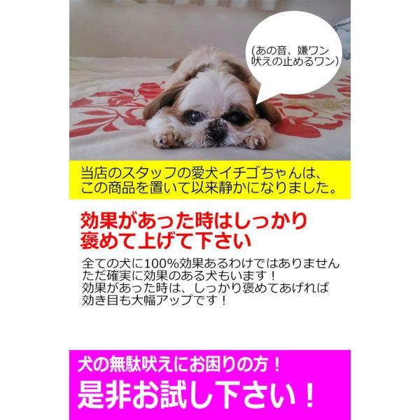 犬用 無駄吠え 禁止くん 電池付き 日本語マニュアル ムダ吠え しつけ トレーニング 安眠妨害 防止 解決 バークストッパー 犬 特許番号取得 正規品|kyplaza634s|07