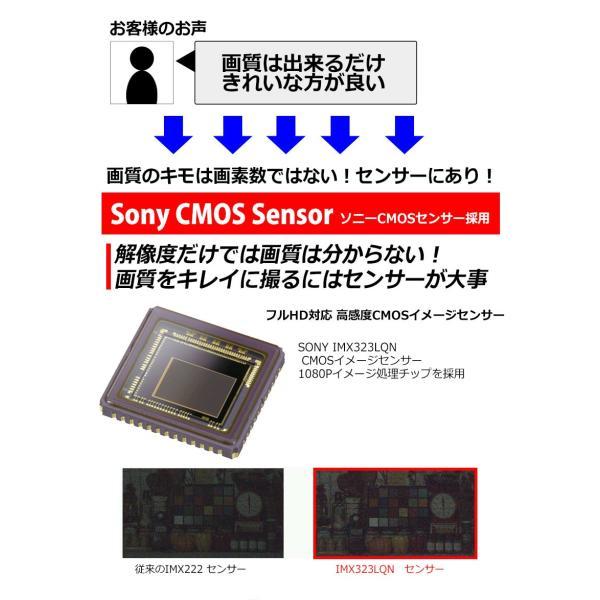 SONY製 センサー ドライブレコーダー ドラレコ あおり運転 WDR F2.0 レンズ Gセンサー HDMI 出力 K6000 よりキレイ 駐車場監視 日本語 マニュアル付属 前後|kyplaza634s|03