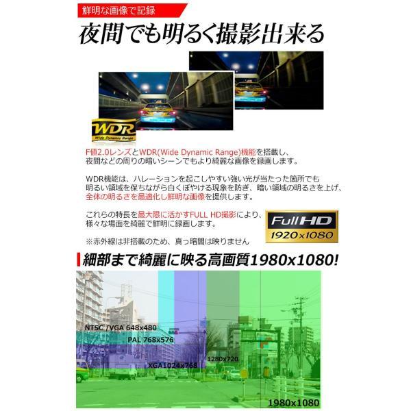 SONY製 センサー ドライブレコーダー ドラレコ あおり運転 WDR F2.0 レンズ Gセンサー HDMI 出力 K6000 よりキレイ 駐車場監視 日本語 マニュアル付属 前後|kyplaza634s|04