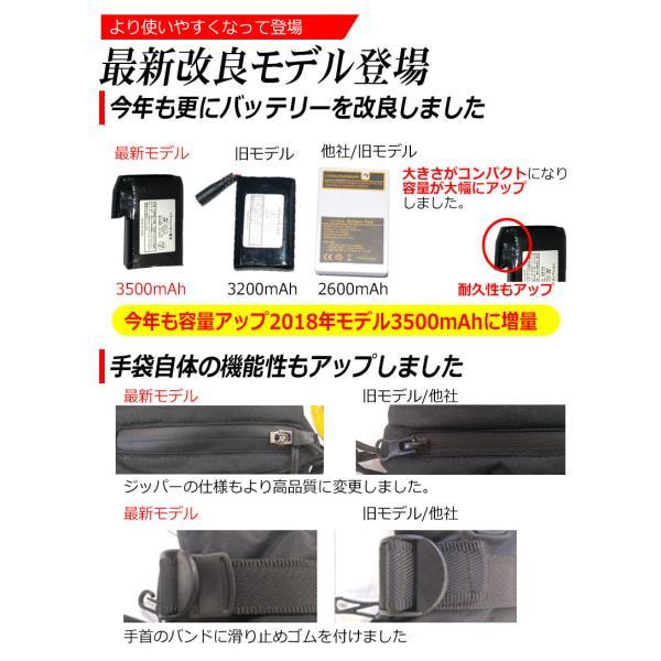 最新モデル ホットグローブ 温熱 手袋 充電 / 電池 両対応 ヒーターグローブ ホッとグローブ スキー バイク 自転車 散歩 魚釣り 日本語 説明書 kyplaza634s 02