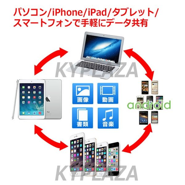 iPhone / iPad Lightning / Android USBメモリー 32GB iStick データ移行 バックアップ iOS9 対応 i-FlashDrive|kyplaza634s|03