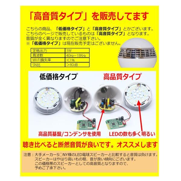 高音質タイプ LED電球スピーカー Bluetooth 接続 LEDライト から 音楽 が流れる スピーカー 搭載 E26 E27 口金 対応 高音質 日本語マニュアル 付き|kyplaza634s|03
