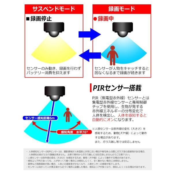 赤外線 防犯カメラ 人体検知 人感センサー ワイヤレス SDカード録画 屋外 小型カメラ 駐車場 車上荒らし 赤外線カメラ 監視カメラ 日本語マニュアル|kyplaza634s|03