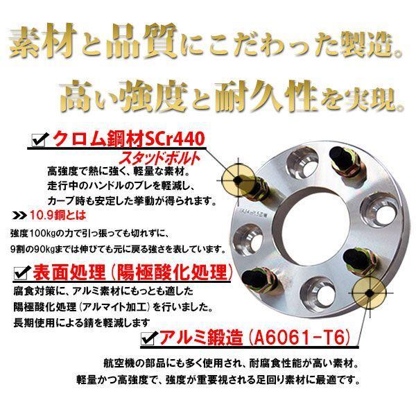 ワイドトレッドスペーサー 40mm ワイトレ PCD 100mm 114.3mm / 4穴 5穴 / P1.25 P1.5 選択 2枚セット E|kyplaza634s|02