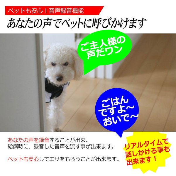 WiFi スマホ連動 自動給餌器 犬猫 ペットフィーダー 6.0L 自動給餌機 タイマー設定 音声録音 餌入れ 給餌器 自動餌やり 自動えさやり器 ペット 猫 犬|kyplaza634s|09