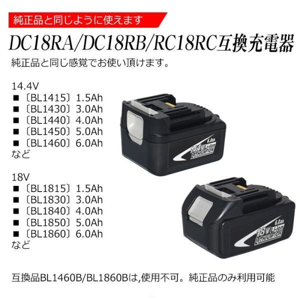 2018年新製品 makita マキタ 充電器 液晶付き DC18RC 互換充電器 14.4V 18V 18.0V バッテリー対応 BL1430 BL1450 BL1460 BL1830 BL1850 BL1860 などに対応|kyplaza634s|04