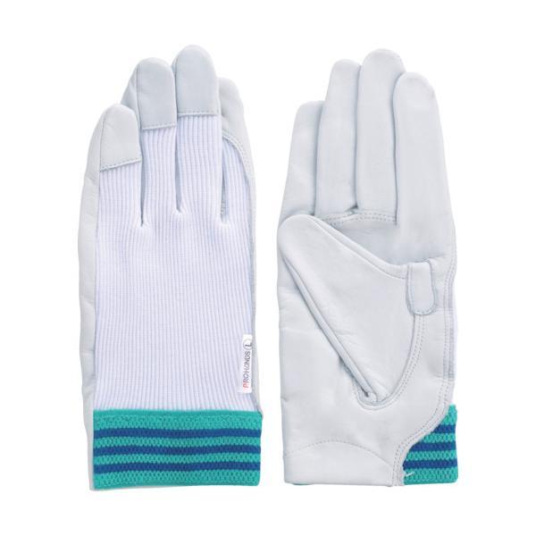 富士グローブ 国産牛革手袋 #12A デンコーアルミ 白 M 3202