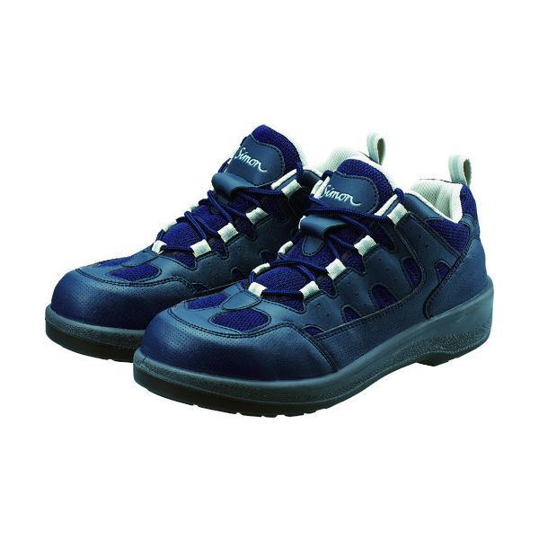 シモン プロスニーカー 短靴 8800紺 23.5cm 8800BU-23.5