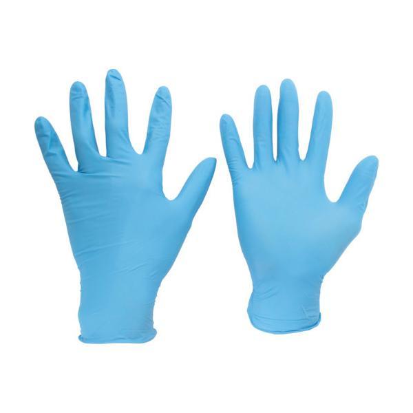 ミドリ安全 ニトリル使い捨て手袋 粉なし 青 L (100枚入) VERTE-750K-L