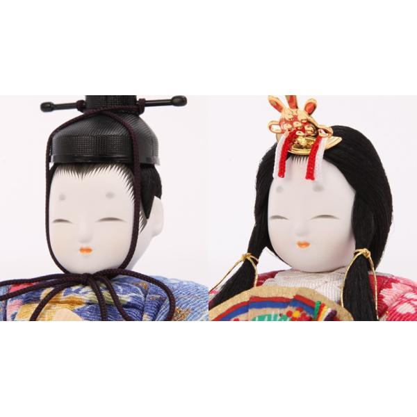 雛人形 ひな人形 雛 木目込人形 一秀 丸窓F 十五人飾|kyuhodo|03