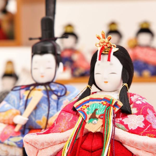 雛人形 ひな人形 雛 木目込人形 一秀 丸窓F 十五人飾|kyuhodo|05