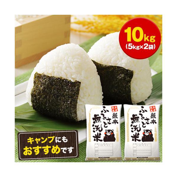 無洗米 10kg 5kg×2 送料無料 熊本県産 ヒノヒカリ 7割使用 白米 米 お米 送料無 ふるさと 無洗米 7-14営業日以内に出荷予定(土日祝除く)