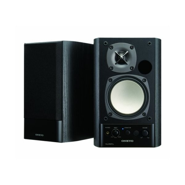 ONKYO WAVIO パワードスピーカーシステム 40W+40W GX-500HD(B) ブラック|kzk-shop|01
