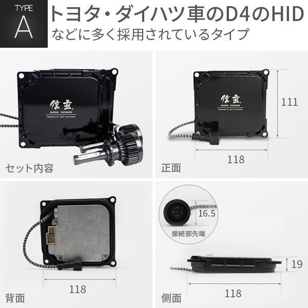 D4S D4R LED化 D2S D2R 純正交換 HID キット 信玄 A B C D E F G 選択 加工不要 安心の1年保証 l-c 04