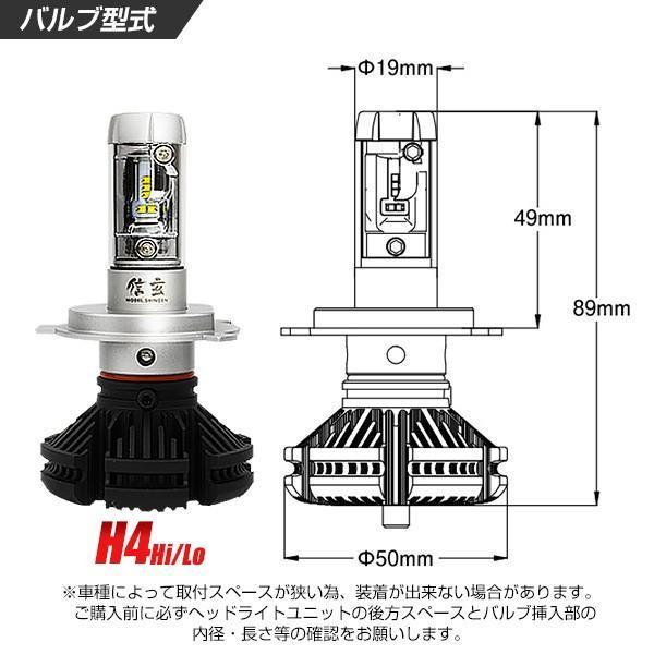 LED H4 バイク 1灯式用 3000LM LEDヘッドライト 信玄 XR 車検対応 2年保証 配光調整ナシで簡単取付 3000K 6500K 8000K 10000K 12V 24V|l-c|02