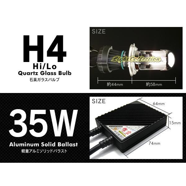 バイク H4 信玄 HID 35W Hi/Lo スライド切替式 バイク1灯用 HIDキット 超薄型バラスト 安定稼働の大人気 モデル信玄 送料無料|l-c|02