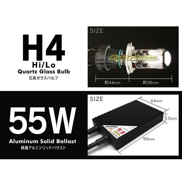 バイク H4 信玄 HID 55W Hi/Loスライド切替式 バイク1灯用 超薄型バラスト 安定稼働の大人気HIDキット 送料無料|l-c|02