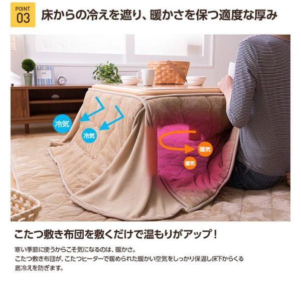 ラグマット マイクロファイバーラグ こたつ布団 正方形 185cm×185cm 送料無料|l-design|05
