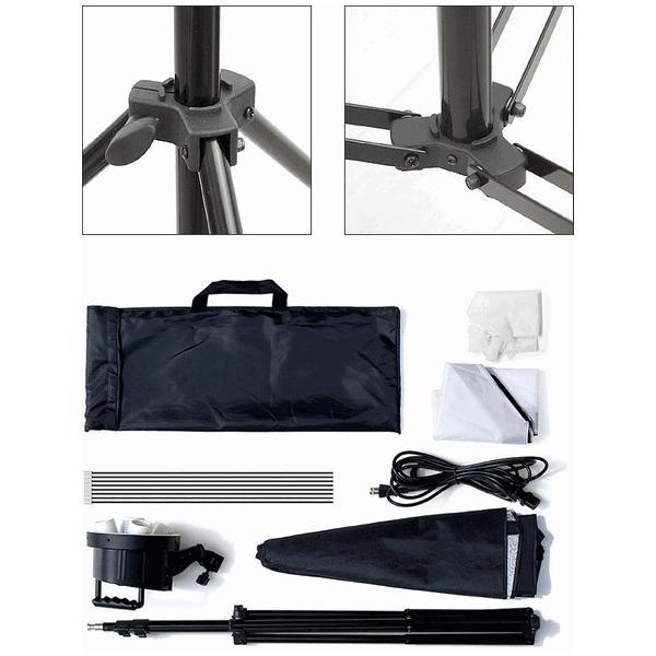撮影照明セット ライト ストロボ 5灯 ディフューザー LED 電球 撮影用ライト 撮影キット 撮影用照明 撮影用品 撮影機材 写真 カメラ スタンド セット キット|l-design|06