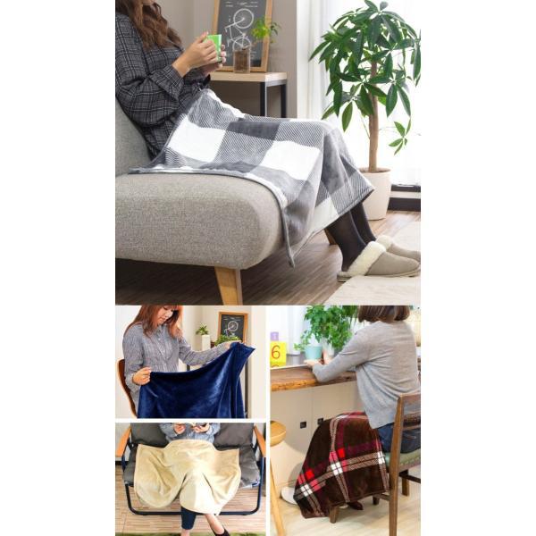 ブランケット ひざかけ 膝掛け 毛布 ひざ掛け 100×70cm フランネル マイクロファイバー毛布 マイクロファイバー 寝具|l-design|05