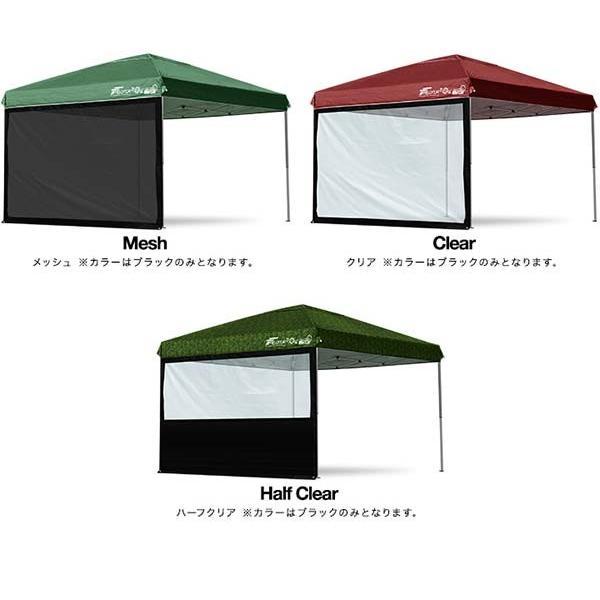 タープ テント タープテント用 サイドシート ウォールタイプ 横幕 3m 300 日よけ シェード オプション 仕切り 3.0m FIELDOOR 送料無料|l-design|05