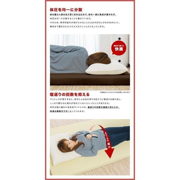 マットレス 低反発マットレス ダブル 低反発マット低反発8cm 体圧分散 布団 寝具 送料無料|l-design|04