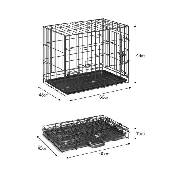 ペットケージ ペットゲージ ドッグケージ ドッグサークル 小型犬用 スチールケージ ペットサークル Mサイズ 送料無料 l-design 02