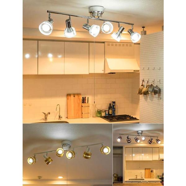 照明 天井 シーリングライト 6灯 おしゃれ スポットライト 6連スポットライト LED対応 プルスイッチ シーリング 木製 リビング 送料無料|l-design|04
