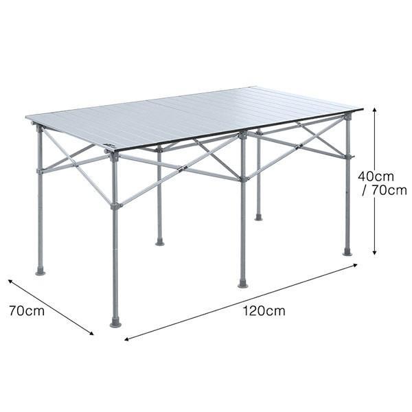 折りたたみテーブル ピクニックテーブル アウトドアテーブル レジャーテーブル バーベキュー キャンプ おしゃれ テーブル FIELDOOR 送料無料|l-design|02
