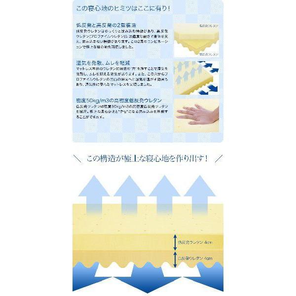 マットレス コンビマットレス 低反発+高反発 8cm セミダブル 体圧分散 布団 寝具|l-design|03