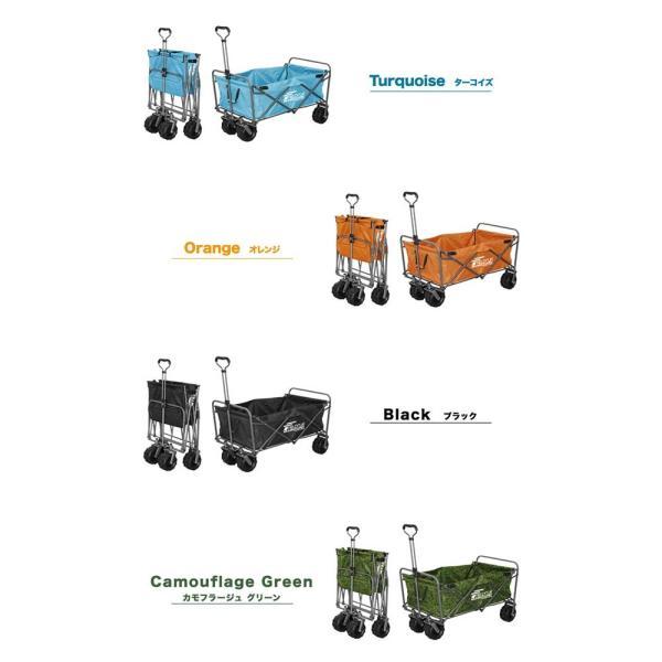 キャリーカート キャリーワゴン 大容量 ロング 折りたたみ  折り畳み アウトドア 大型タイヤ 軽量 キャンプ おしゃれ キャリー カート FIELDOOR 送料無料|l-design|03