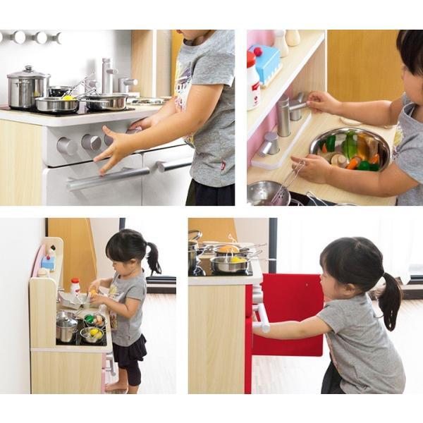 ままごと キッチン 木製 おままごと おもちゃ 知育玩具 ごっこ 遊び ままごとセット 誕生日 お祝い プレゼント 子ども 子供 女の子 贈り物 RiZKiZ 送料無料|l-design|04