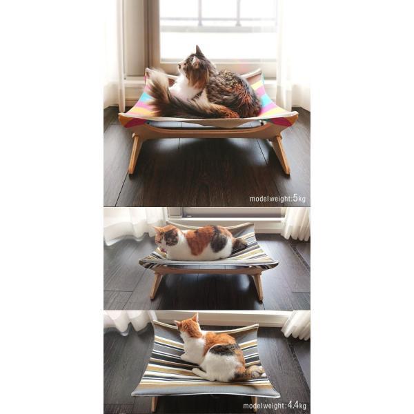 ペット用ハンモック ペット用ベッド 猫 耐荷重6kg Mサイズ 54cm 木製 ペット用ソファ ソファー クッション ペット用品 キャットハンモック 送料無料|l-design|14
