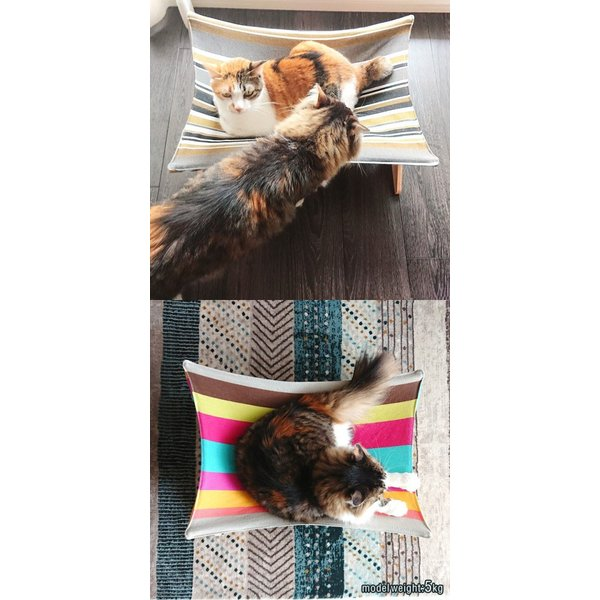 ペット用ハンモック ペット用ベッド 猫 耐荷重6kg Mサイズ 54cm 木製 ペット用ソファ ソファー クッション ペット用品 キャットハンモック 送料無料|l-design|15