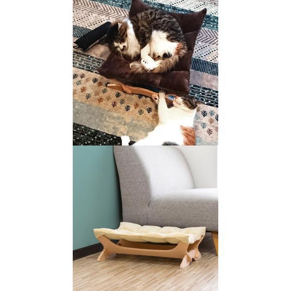 ペット用ハンモック ペット用ベッド 猫 耐荷重6kg Mサイズ 54cm 木製 ペット用ソファ ソファー クッション ペット用品 キャットハンモック 送料無料|l-design|16