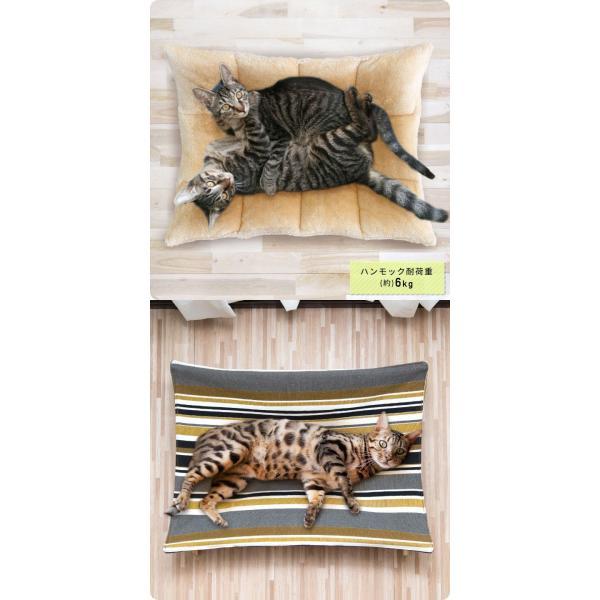 ペット用ハンモック ペット用ベッド 猫 耐荷重6kg Mサイズ 54cm 木製 ペット用ソファ ソファー クッション ペット用品 キャットハンモック 送料無料|l-design|08