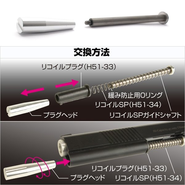 東京マルイ ハイキャパ Hi-CAPA5.1 カスタム リコイルスプリングガイド 7インチ|l-direct|06