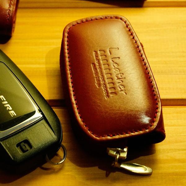 スマートキーケース 本革 トヨタ用 T1タイプ ボタンA SKC-T1 series|l-leather|12